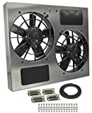 Derale Performance 16835 Gray/Black High Output Dual Radiator Fan