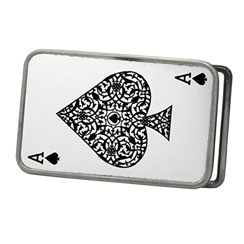 Buckle Rage Men's Ace of Spades Card Deck Playing Belt Buckle Antique Silver - Spade Buckle