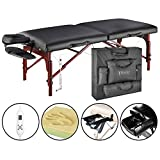 """Master Massage 31"""" Montclair Pro Therma - Top Portable Massage TablePackage, Black  WITH MEMORY FOAM"""