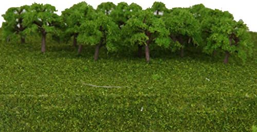 P Prettyia 約25個 樹木 モデルツリー ツリー模型 情景コレクション 箱庭 鉄道模型 建物模型 DIY 1/300