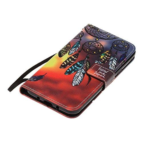 Para Samsung Galaxy J3 (2016)/J310 funda, (campánula misteriosos) caja del teléfono de la PU patrón en relieve ,Función de Soporte Billetera con Tapa para Tarjetas correa de mano soporte para teléfono campánula misteriosos