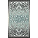 Maples Rugs Kitchen Rug - Pelham 2'6 x 3'10 Non Skid Small Accent Throw Rugs [Made in USA] for Entryway and Bedroom, Grey/Blue