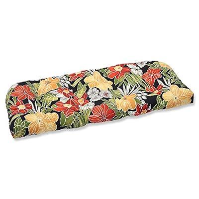 Pillow Perfect Outdoor Clemens Wicker Loveseat Cushion, Noir: Garden & Outdoor