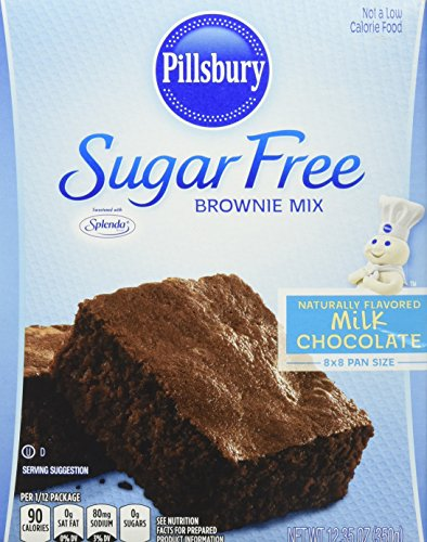Pillsbury Sugar Free Milk Chocolate Brownie Mix, 12.35 oz.,(Pack of 6)