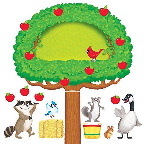 Trend Enterprises Apple Tree & Animals Bulletin Board Set (53 - Board Bulletin Tree Apple