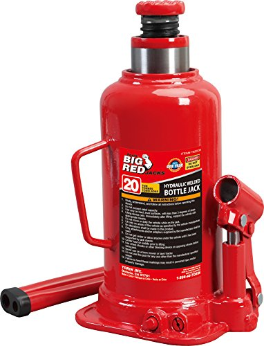 (Torin Big Red Hydraulic Bottle Jack, 20 Ton Capacity)