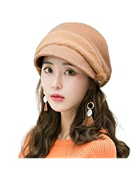 SIGGI Womens Newsboy Cap Winter Hat Visor Beret Cap Warm Soft Lined Adjustable