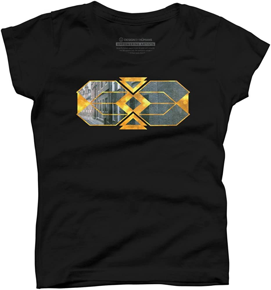 Gilded streets Girls Youth Graphic T Shirt Design By Humans