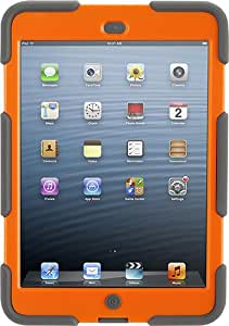 Griffin Grey/Orange Survivor All-Terrain Case + Stand for iPad mini - Military-duty case with stand