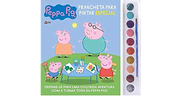 Peppa Pig Prancheta Para Pintar Especial Em Portugues Do Brasil