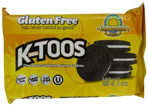 KinniToos Gluten Free Cookies, Chocolate Sandwich Creme, 8 Ounce (Pack of 6) by KinniToos