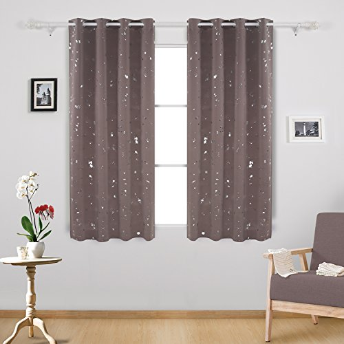 Deconovo Silver Dots Printed Thermal Insulated Blackout