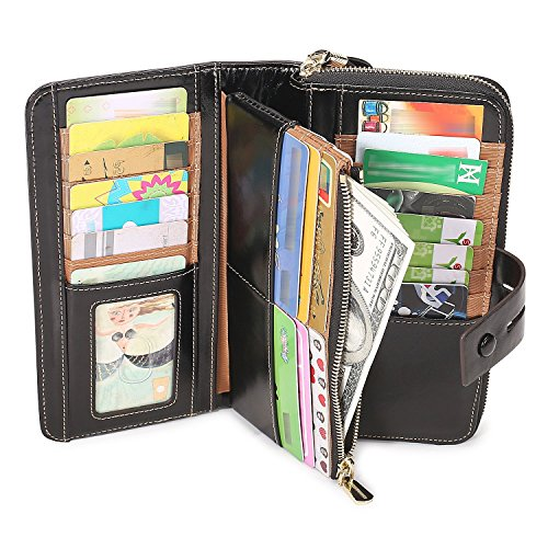 Ladies Black Checkbook Wallet - 3