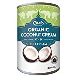 Cha's Organics Delicious Organic Coconut Cream Multipack - Natural & Gluten - Free Organic Coconut Cream Cans, Perfect For Asian Recipes, Exotic Cocktails & Mouth-Watering Desserts - 6 x 13.5oz