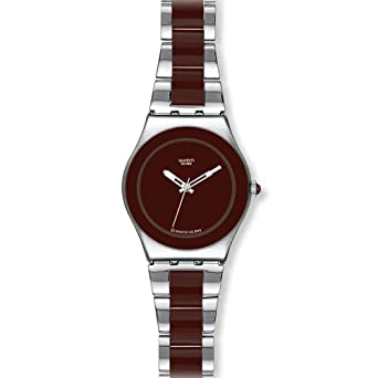 Swatch Irony Brown Ceramic Chocolate Dial Womens watch #YLS163G