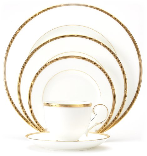 Noritake Gold Dinnerware - Noritake Rochelle Gold 20-Piece Dinnerware Place Setting, Service for 4