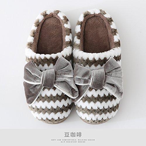 Home Caffè Morbide Pantofole Laxba Buon Ladies Shoesbean Sottopiede Marmo Imbottito 39 38 Dcotton tA57R