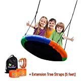 Children's Tree Swing with Hanging Ropes- 400lb Tree Swing Hanging Kit- Easy Installation with Adjustable Hanging Ropes Included - Platform Swing for Kids- Ideal for Parties and Birthday Gifts