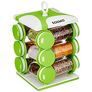 Solimo Revolving Spice Rack set (12 pieces)