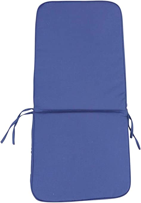 Garden Furniture Cushion Seat and Back Cushion for Folding Chair in Blue