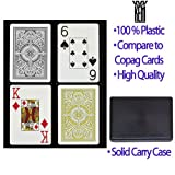 Arrow Black and Gold KEM Cards Wide Jumbo 2-Pack - Playing Cards 100% Plastic Kem