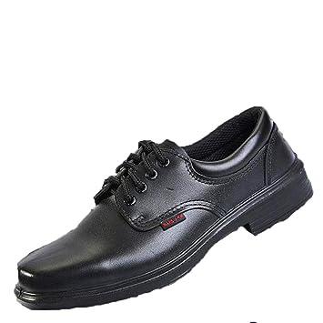 Jincosua Los Zapatos Antideslizantes para Hombre del Soldador Antideslizantes durables del Calzado de Trabajo del Seguro Respirable (Color : Negro, ...