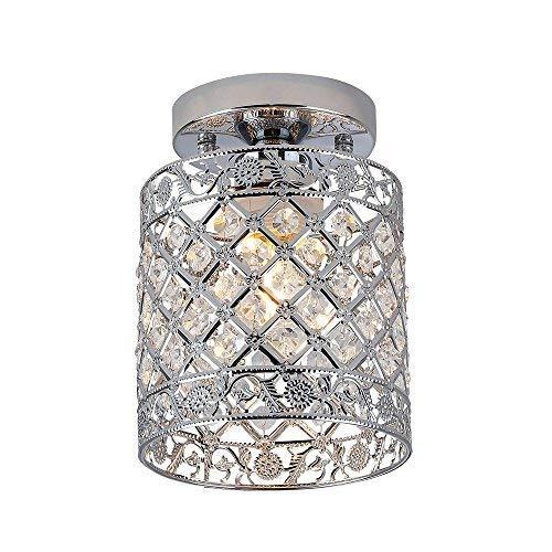 ZEEFO Crystal Chandeliers Light Mini Style Modern Décor Flush Mount Fixture