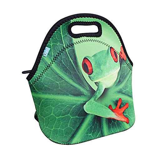 Lunch Boxes, OFEILY Lunch Tote Lunch bags with Neoprene(Middle, Frog)