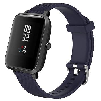 Harpily Correa de Respuesto para Xiaomi Amazfit Bip Youth Watch, de Silicona Saludable Resistente al Agua Transpirable Lujoso para Deporte Ocio Simple ...