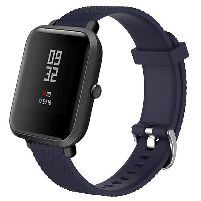 ❀para Xiaomi Amazfit Bip Youth, Banda de Reloj Deportiva de Silicona Suave de Repuesto Correa de Reloj Absolute: Amazon.es: Ropa y accesorios