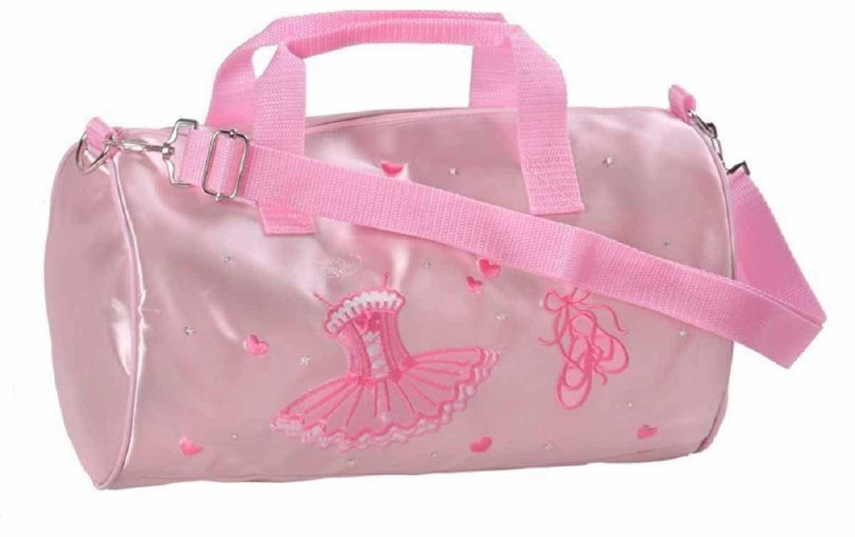 Great Pretenders Girls Embroidered Deluxe Ballerina Duffle Bag (Pink)