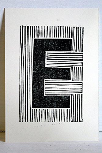EKone Original Lino Print - E
