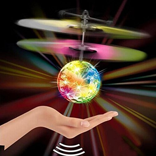 Tuscom Flying RC Ball Infrared Induction Mini Aircraft Flashing Light Remote Toys For Kids