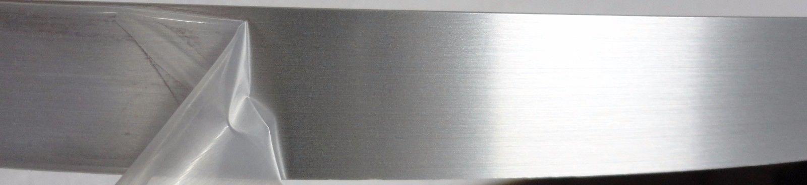 Brushed Aluminum PVC edgebanding 15/16'' x 120'' with no adhesive on PVC backing