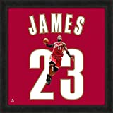 Biggsports Cleveland Cavaliers Lebron James Red 20x20 Uniframe Jersey Photo