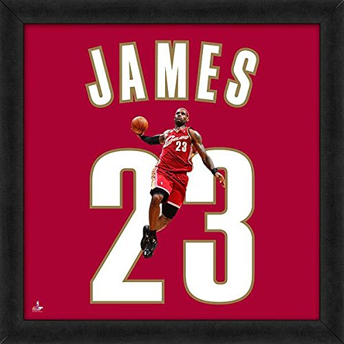 Biggsports Cleveland Cavaliers Lebron James Red 20x20 Uniframe Jersey Photo by Biggsports