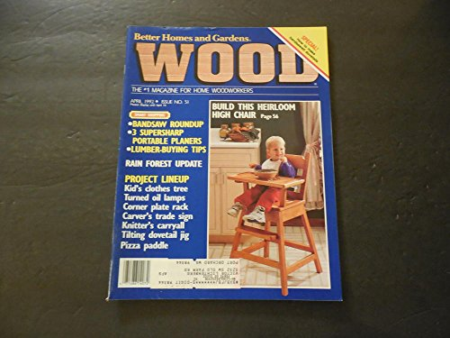- Better Homes and Gardens Wood Apr 1992 Heirloom High Chair
