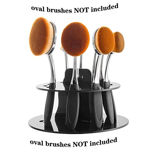 DSCbeauty 10 Holes Oval Makeup Brush Set Holder Toothbrush M