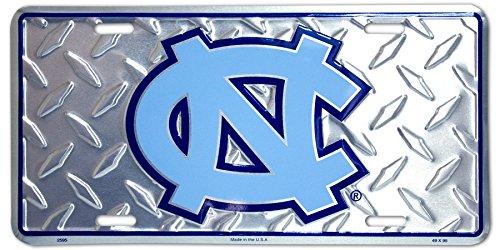 (6x12) University of North Carolina Diamond Cut NCAA Tin License Plate