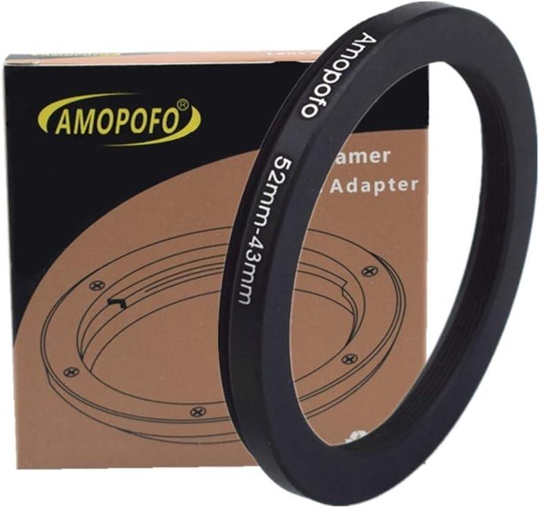 anillo adaptador de filtro Step Up 52 metal 67 mm Anillo adaptador de filtro de 52 hasta 67 mm de c/ámara objetivo con rosca de filtro de 52 mm a 67 mm anillo de filtro 52mm bis 43mm
