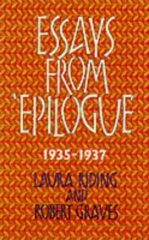 Essays from Epilogue 1935-1937 (Lives & Letters: the Millennium Graves) (Letters Grave From The)