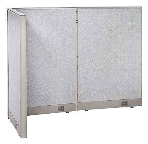 GOF Freestanding L Shaped Office Partition, Large Fabric Room Divider Panel, 36
