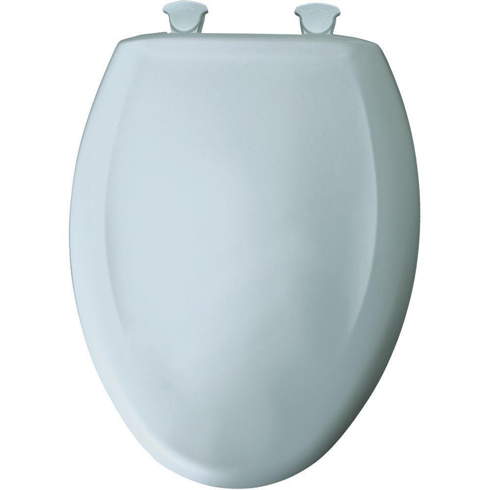 Bemis 1200SLOWT 174 Slow Sta-Tite Elongated Closed Front Toilet Seat, Blue Mist