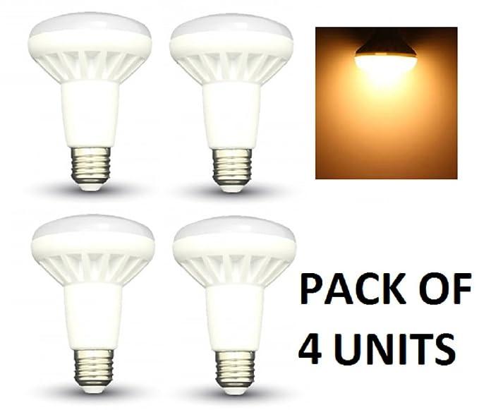 Led ampoules à réflecteur R80–Lot de 4–E27/Edison à vis–10W–blanc chaud 3000K 800lm Non Dimmable/20000heures