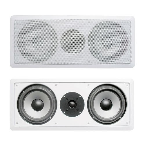 Acoustic Audio CS-IW26CC 250 Watts In-Wall Dual 6.5-Inch Center Channel Speaker, White by Acoustic Audio by Goldwood