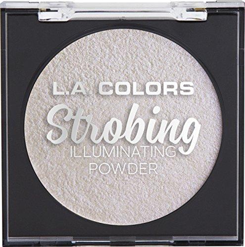 - L.A. COLORS Strobing Illuminating Powder, Iridescent Pearl, 1 Ounce