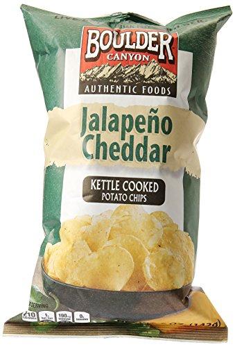 (Boulder Canyon Jalapeno Cheddar Kettle Cooked Potato Chips, 5 oz)