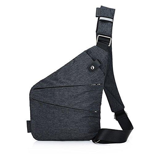 Men's Sling Bag Lightweight Casual Daypack Chest Shoulder Bag by Kvantym