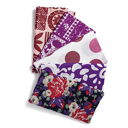 Bachaaya   Freedom Squares   Fat Quarters 5 Piece Bundle   Cotton Fabric for Quilting, Sewing, Crafting, Bedding   18 Inches X 21 Inches (46 X 53 ()