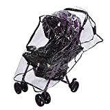 Clear Baby Stroller Rain Cover PVC Universal Waterproof Ventilation Windproof Dust Weather Shield Umbrella Pram Cover Accessory